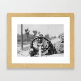 Jack Johnson Driving His Thomas Flyer Framed Art Print