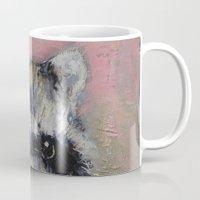 raccoon Mugs featuring Raccoon by Michael Creese