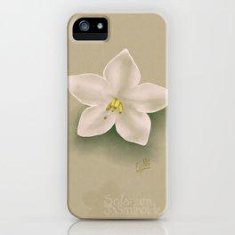 Solanum Jasminoides iPhone Case
