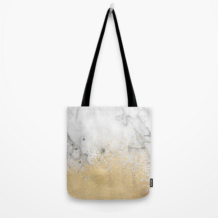 Gold Dust on Marble Tote Bag