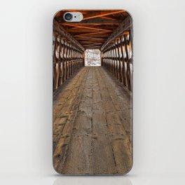 Jack O'Lantern Covered Bridge iPhone Skin