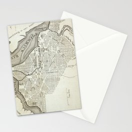 Vintage Map of Washington D.C. (1794) Stationery Cards