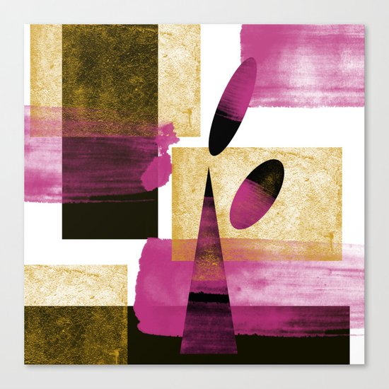 Abstract Mother Art Canvas Print
