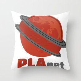 3D Printing PLAnet Funny 3D Print Cool Filament Fan Gift graphic Throw Pillow