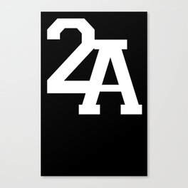 2A in White Canvas Print