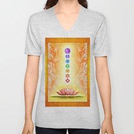 Sacred Lotus - The Seven Chakras .I Unisex V-Neck