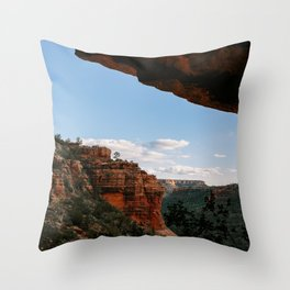 Sedona Sights From Under A Natural Arch Throw Pillow