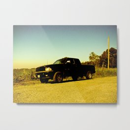 Orange Ram Metal Print