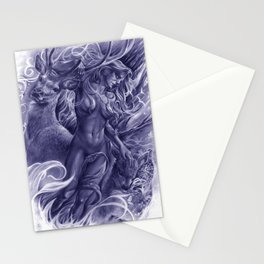The Fawn (Blue Version) Stationery Cards