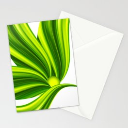 Abstract green 209 Stationery Cards