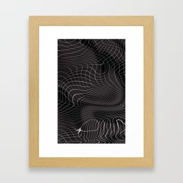 Uneven ground Framed Art Print