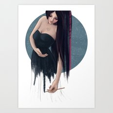 She Painted Her World Art Print