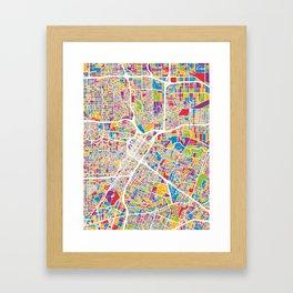 Houston Texas City Street Map Framed Art Print