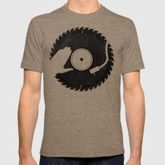 That DJ sure can cut Tri-Coffee LARGE Mens Fitted Tee