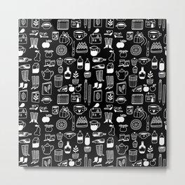 Pattern Project #8 / Things (black) Metal Print