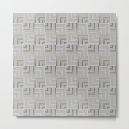 Bronze and Silver Squares Metal Print