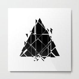 Sci-Fi Triangle Metal Print