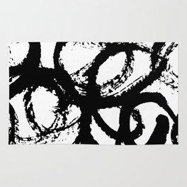 Dance Black and White Rug