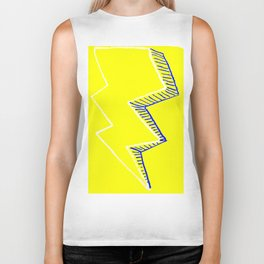 Yellow Volt Lightning Biker Tank