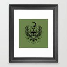 Sacred Scarab Framed Art Print