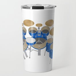 Blue Drum Kit Travel Mug