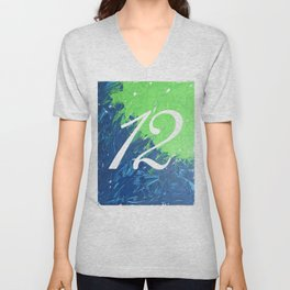 Blue & Green, 12, No. 3 Unisex V-Neck