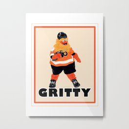 Gritty the new mascot of the Flyers in Philadelphia Metal Print