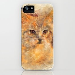 Ginger cat art iPhone Case