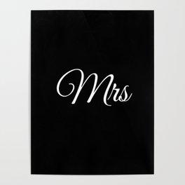 Mrs (Black) Poster