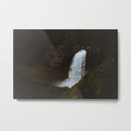 Sahalie Falls Moodiness PNW Metal Print