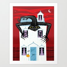 The Halloween Series - The Monster That Lives On Your Roof Art Print