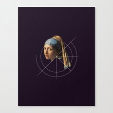 NOT Girl with a Pearl Earring Canvas Print