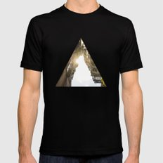 where the light shines different Mens Fitted Tee Black MEDIUM