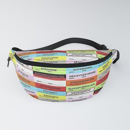 Anesthesia Labels Fanny Pack