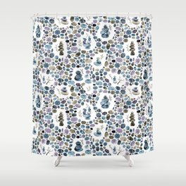 Wishing stones and cairns Shower Curtain