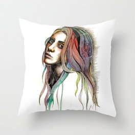 Shattering Apathy Throw Pillow