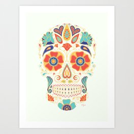 Day of the Dead Sugar Skull Candy Art Print