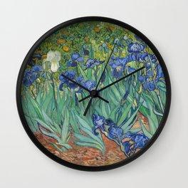 Vincent van Gogh - Irises Wall Clock