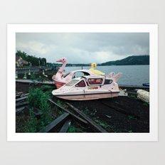 Lake Yamanaka Art Print