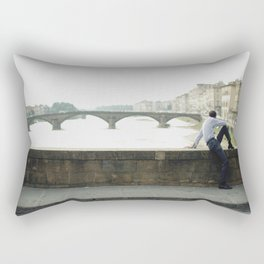 Man in the bridge Rectangular Pillow