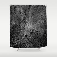atlanta Shower Curtains featuring Atlanta map Georgia by Line Line Lines