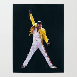Queen artwork Freddie Bohemian Rhapsody Poster