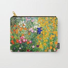 Flower Garden by Gustav Klimt vibrant Carry-All Pouch