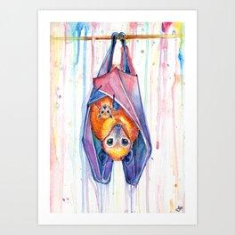 Buncha'bats Art Print