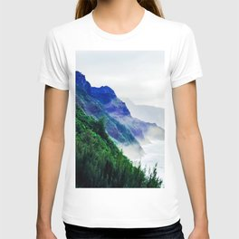 green mountain with ocean view at Kauai, Hawaii, USA T-shirt
