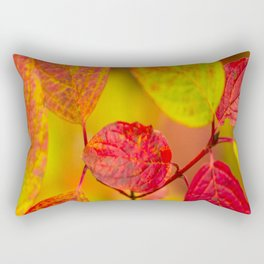 Red autumn leaves #decor #society6 Rectangular Pillow