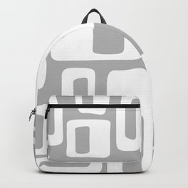 Retro Mid Century Modern Abstract Pattern 335 Gray Backpack