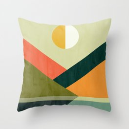 Hidden shore Throw Pillow