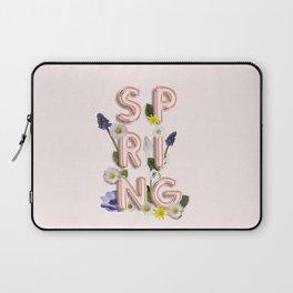 Rose Gold Spring Flower Blush Laptop Sleeve