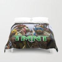 ninja turtles Duvet Covers featuring ninja turtles  by custompro